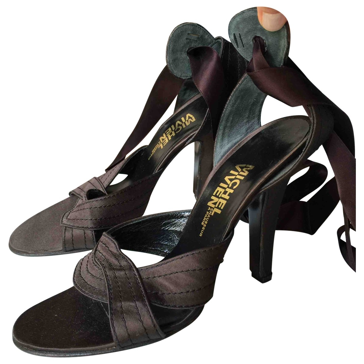 Michel Vivien \N Brown Cloth Sandals for Women 40.5 EU