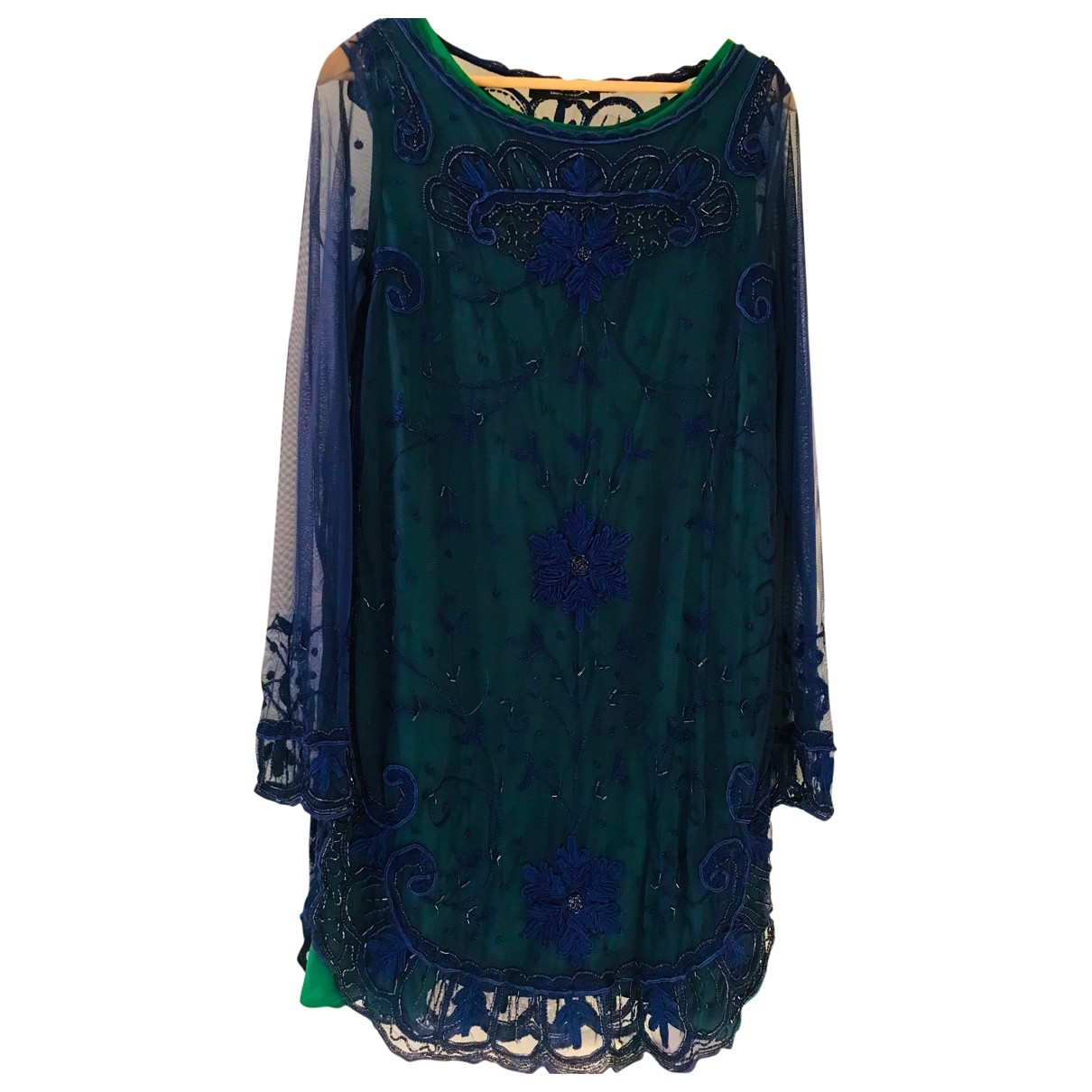 Twin Set \N Kleid in  Blau Spitze