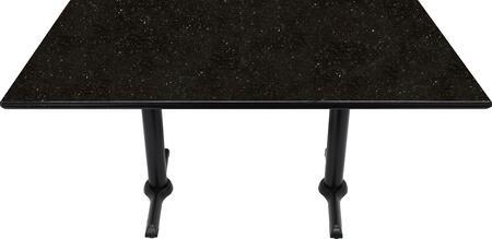 G206 30X48-B10-0522J 30x48 Black Galaxy Granite Tabletop with 5x22 Semi-Gloss Dining Height