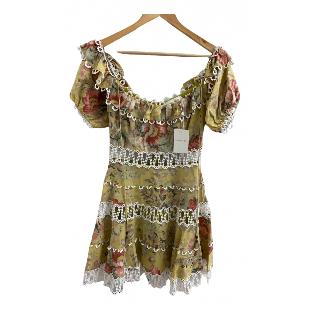 Zimmermann \N Multicolour Linen dress for Women 0 0-5