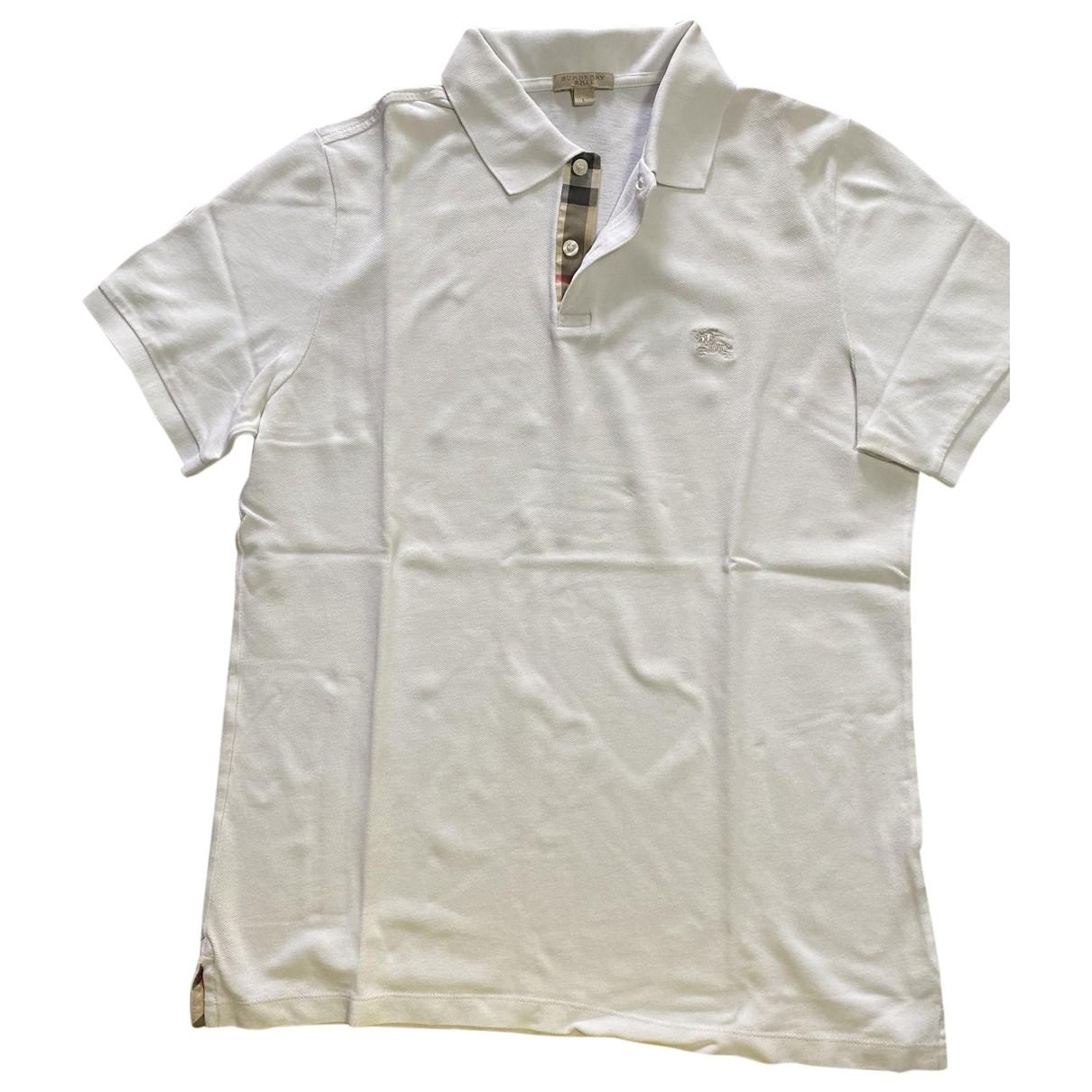 Burberry \N White Cotton Polo shirts for Men L International