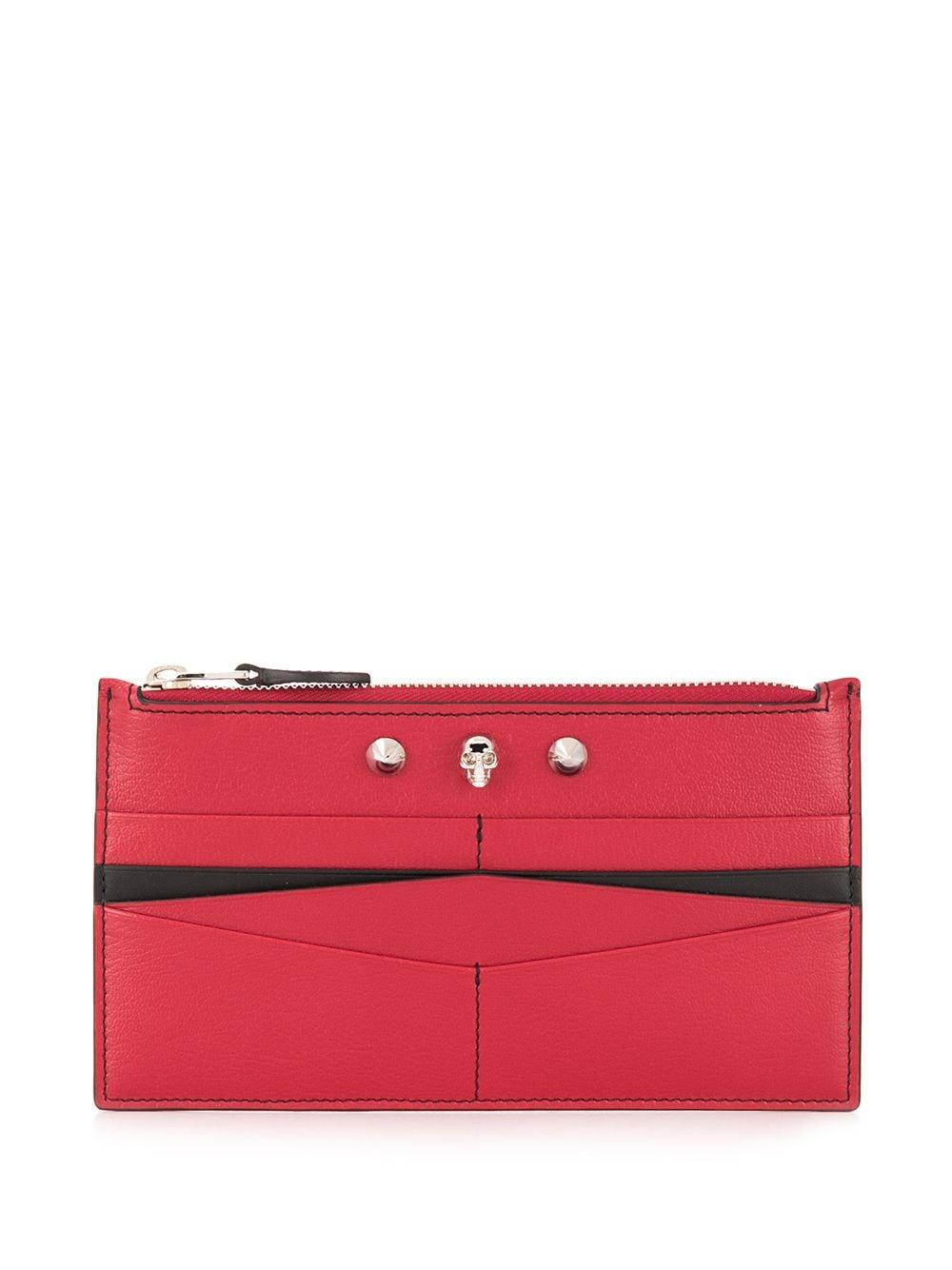 Flat Zip Leather Wallet