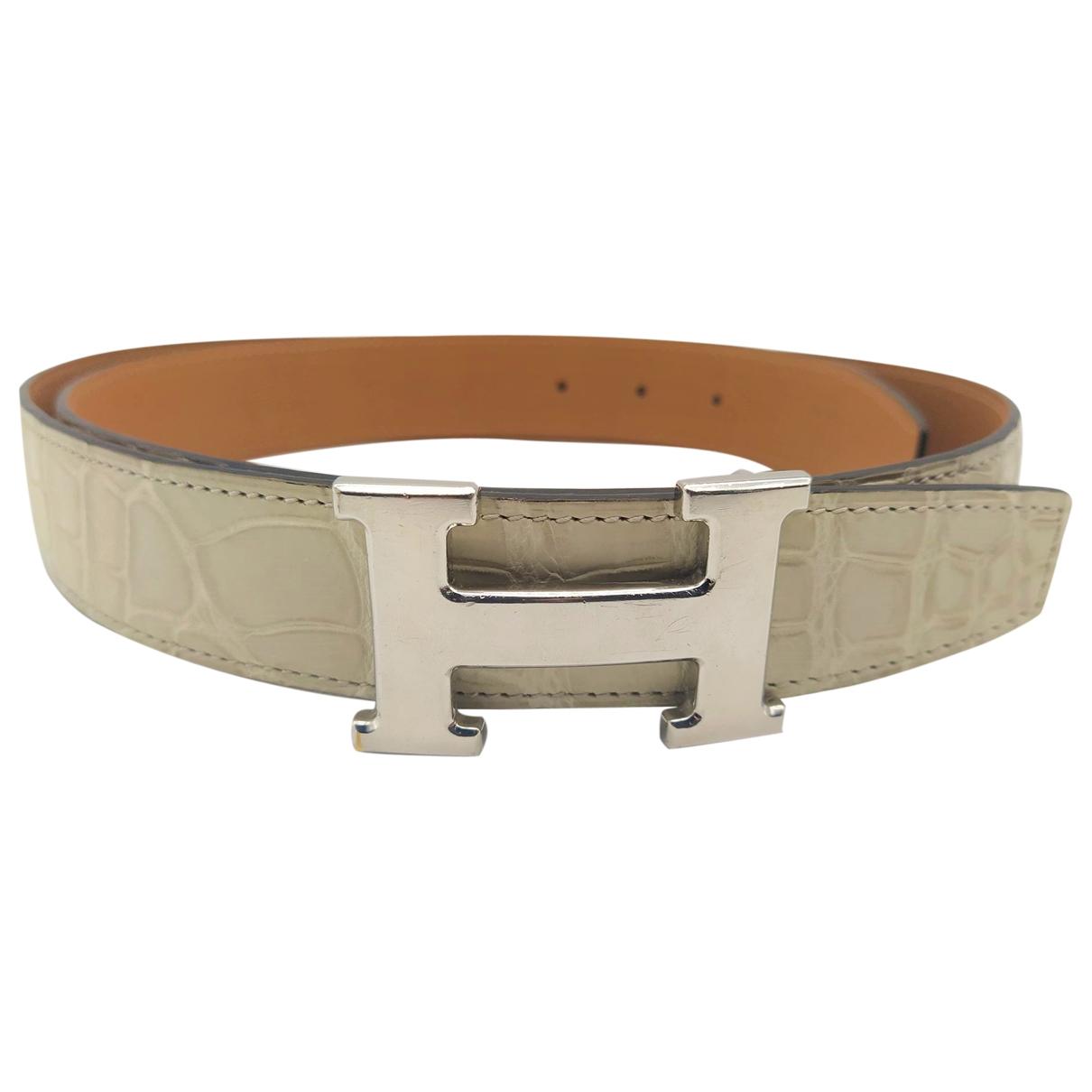 Cinturon H de Aligator Hermes