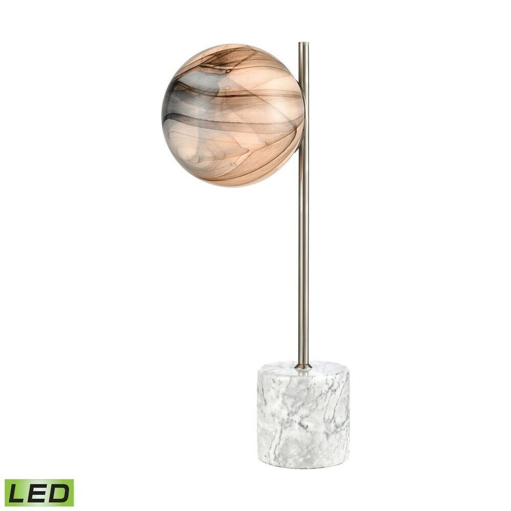 Oakwood Fairway - 1 Light Table Lamp  Atmosphere White/White Marble/Satin Nickel/White Marble/Satin (Atmosphere White/White Marble/Satin Nickel/White