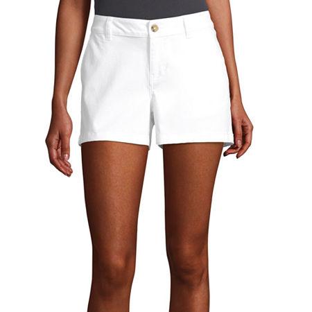 a.n.a Womens 3.5'' Chino Short, 2 , White