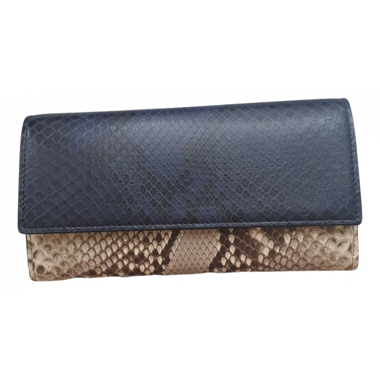 Gucci N Blue Python wallet for Women N