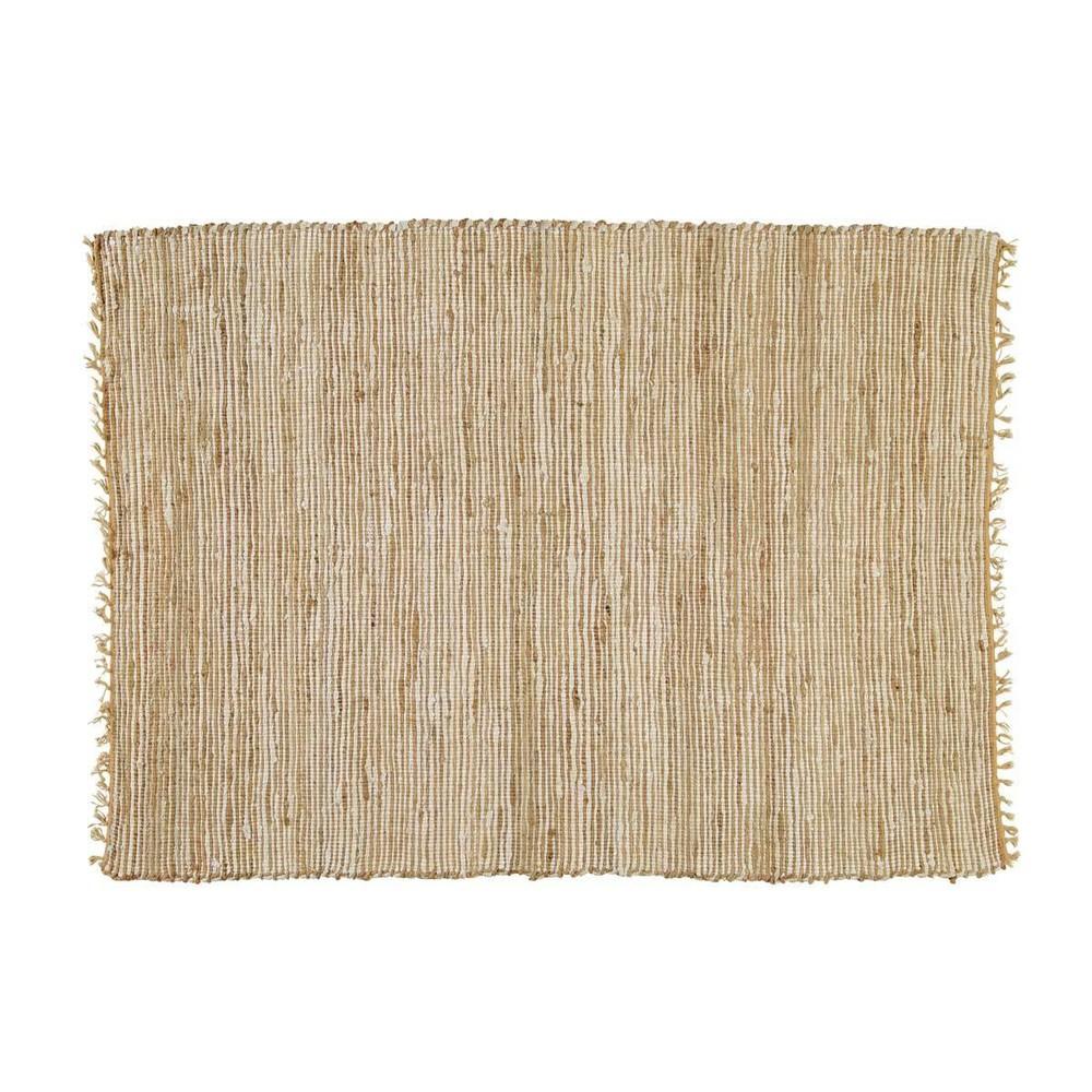 Flechtteppich aus Baumwolle und Jute, 140x200