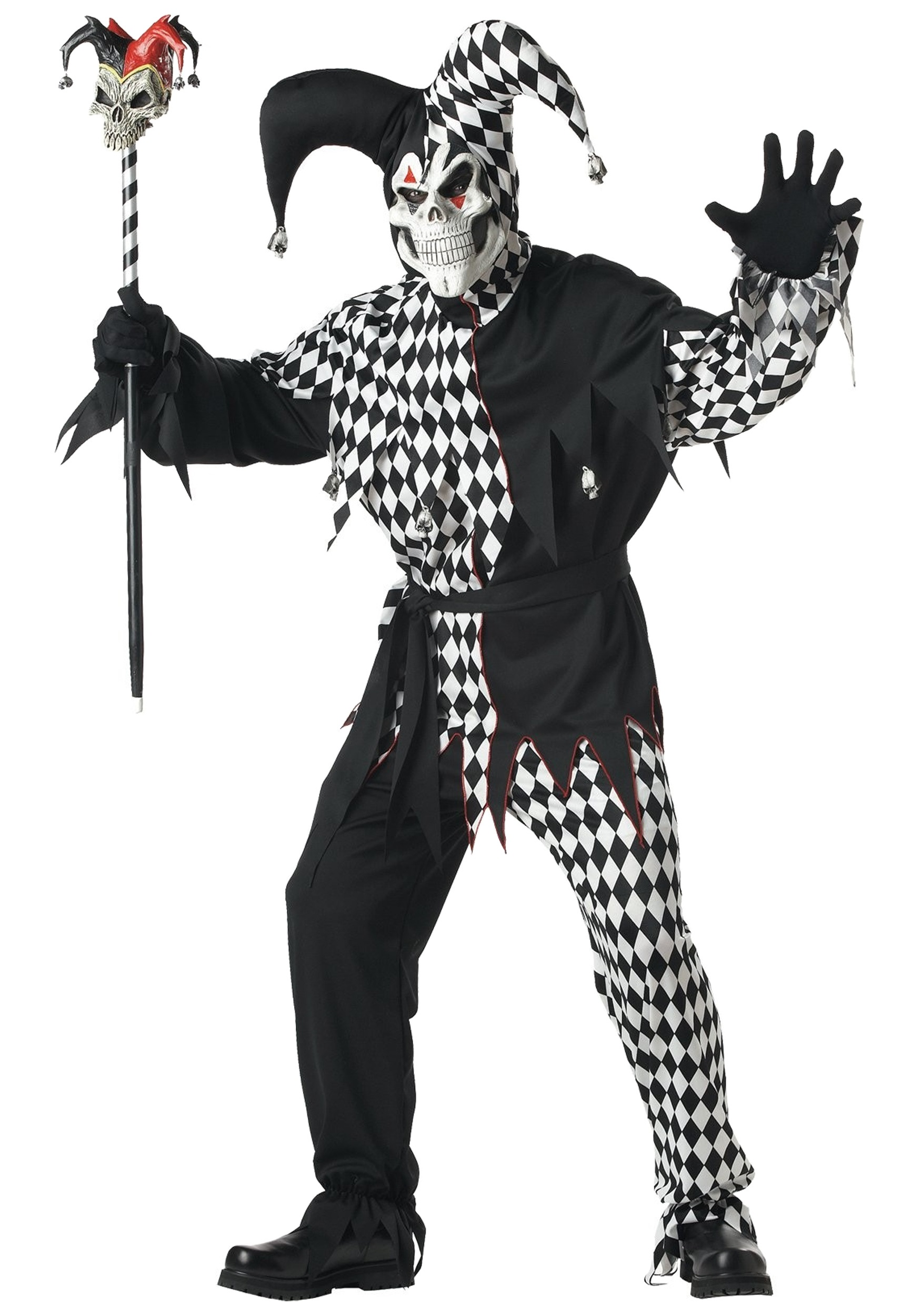 Dark Jester Costume for Adults