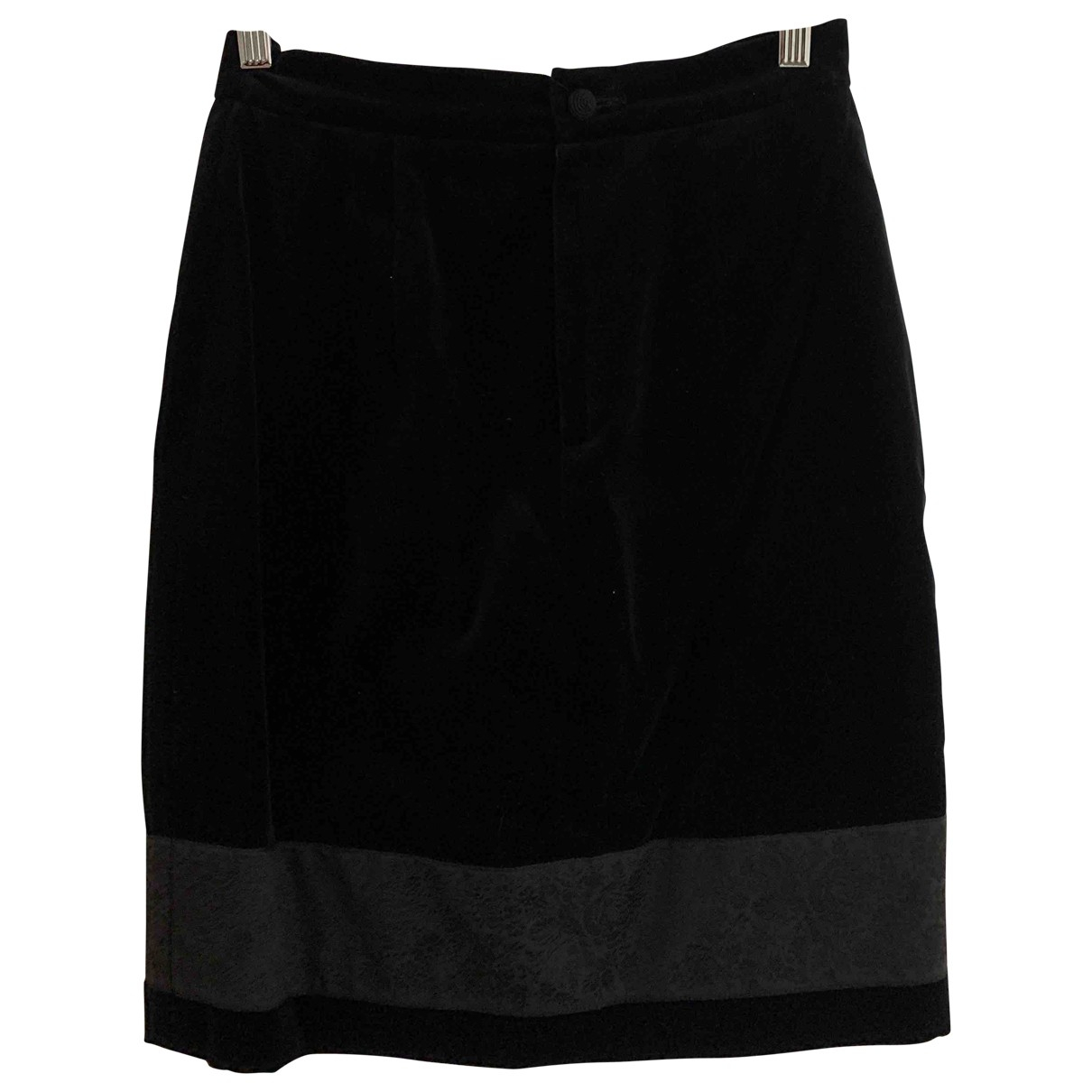 Non Signé / Unsigned \N Black Velvet skirt for Women 40 IT