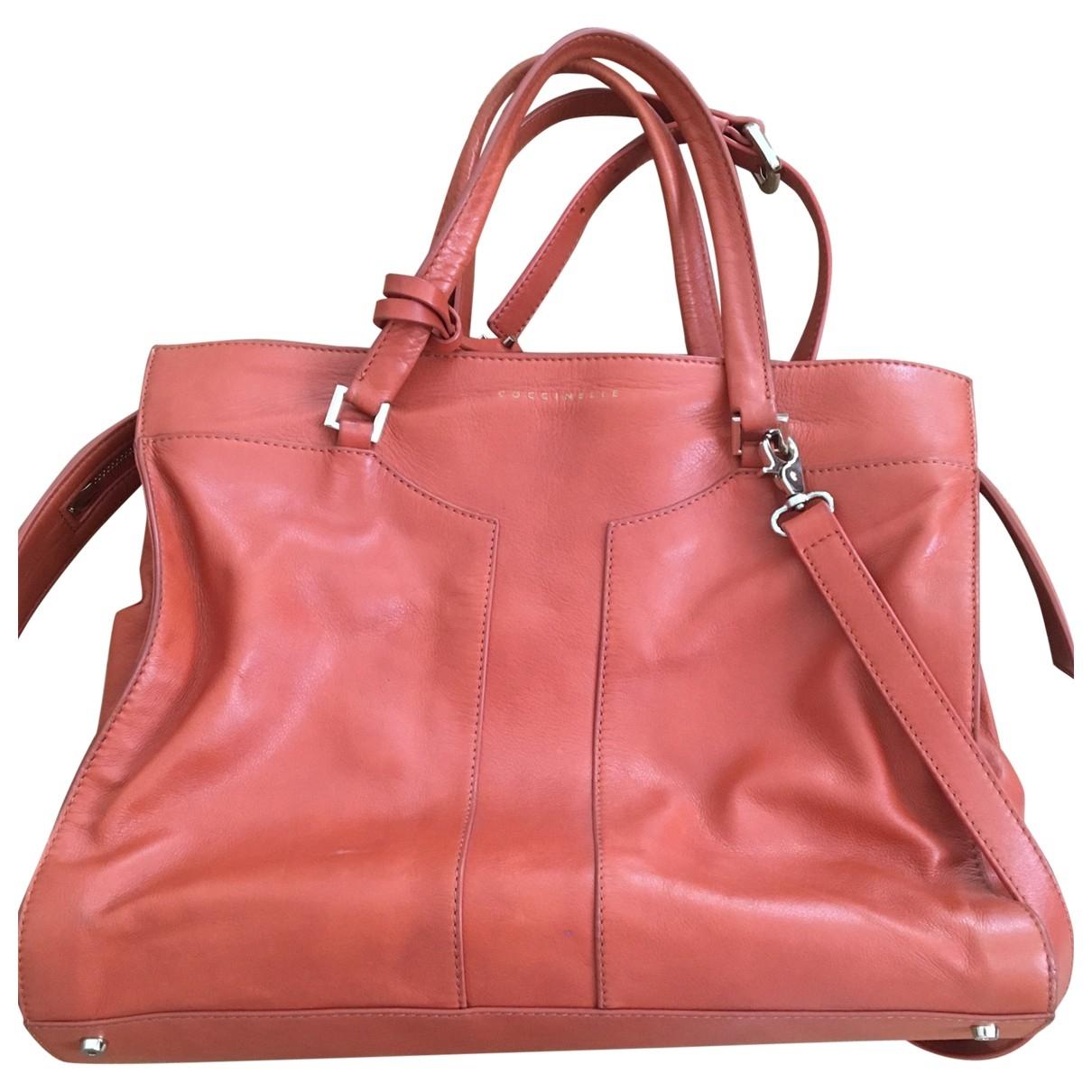 Coccinelle \N Handtasche in  Orange Leder