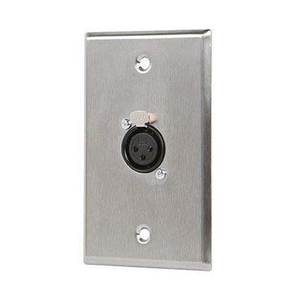 1-Port 3-Pin XLR Female Zinc Alloy Wall Plate - Monoprice®