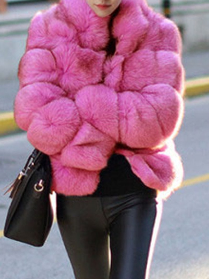 Ericdress Ladylike Thick Long Sleeves Faux Fur Coat