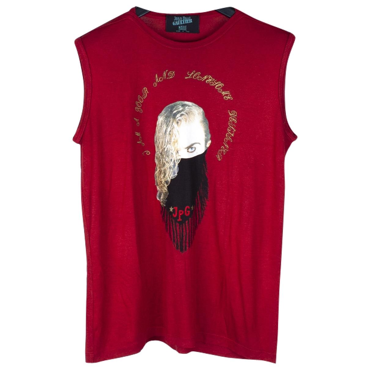 Jean Paul Gaultier - Tee shirts   pour homme en coton - rouge