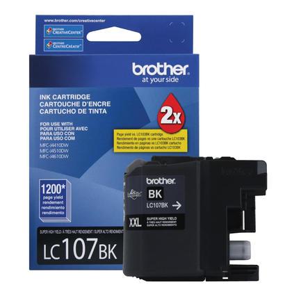 Brother LC107BKS Original Black Ink Cartridge Extra High Yield
