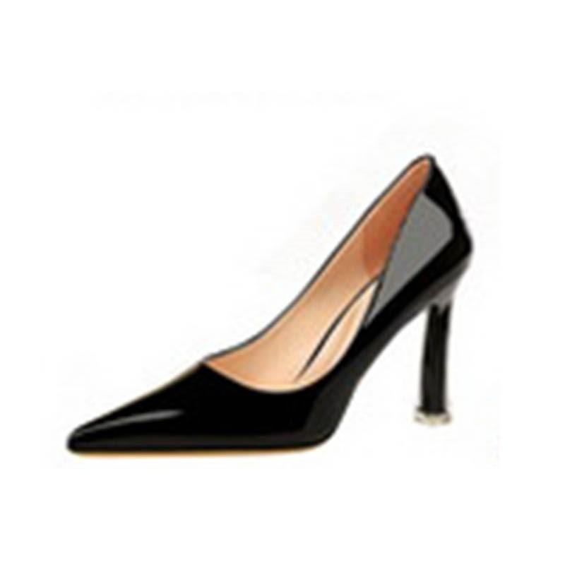 Ericdress Plain Stiletto Heel Pointed Toe Slip-On Women's Pumps