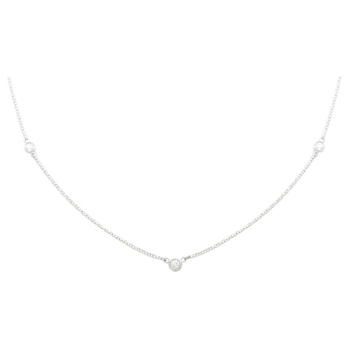 Tiffany & Co - Collier Elsa Peretti  pour femme en platine - dore