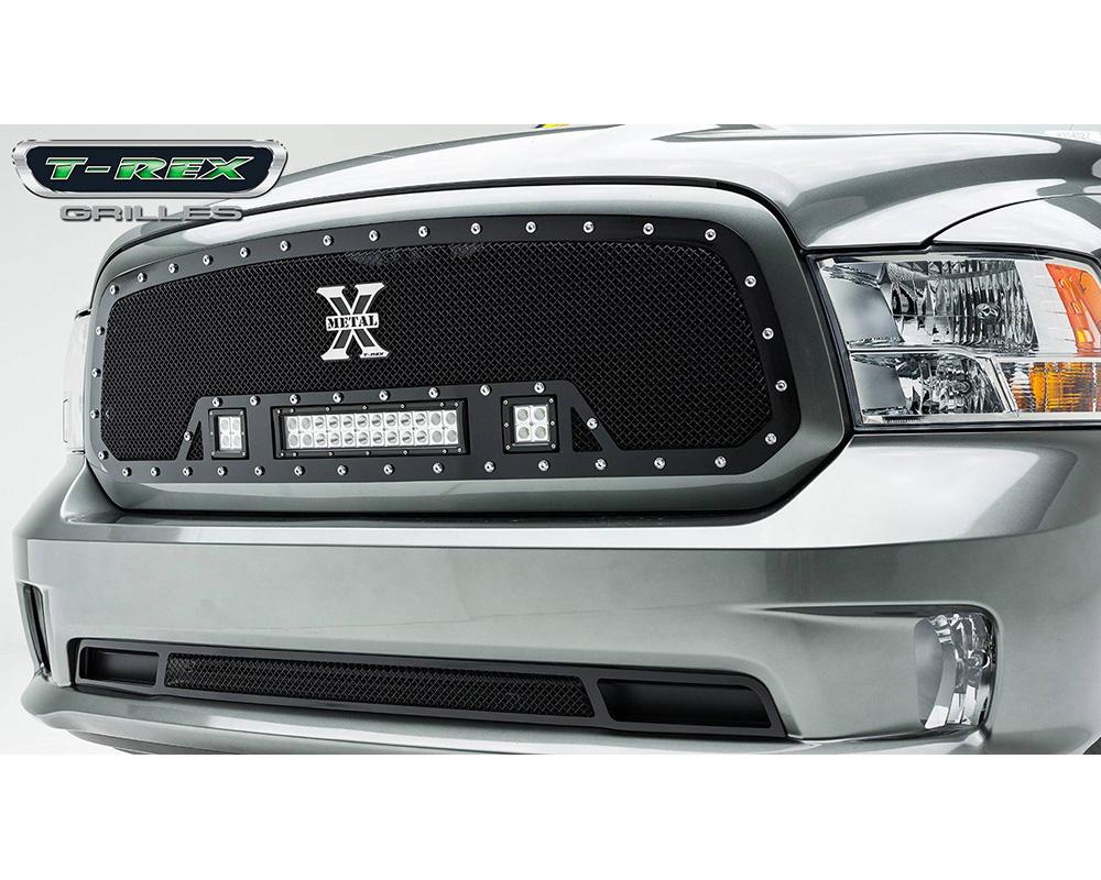 2013-2018 Ram 1500 Torch Grille, Black, 1 Pc, Insert, Chrome Studs, Incl. (2) 3