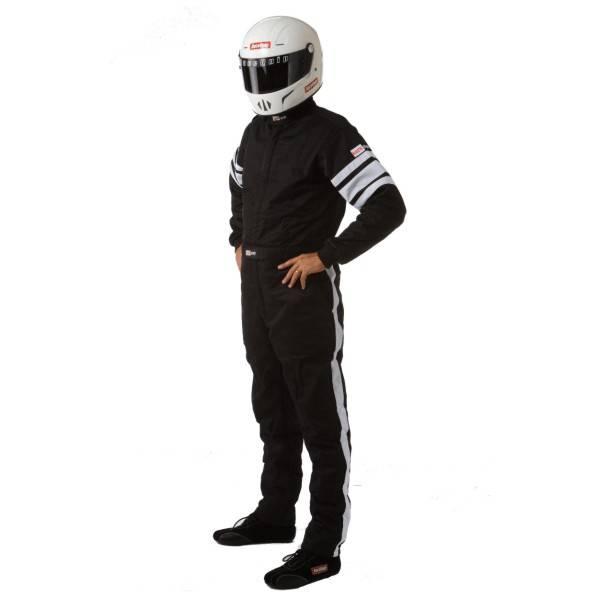 RaceQuip 120 Series Pyrovatex Racing Suit - Black - 2XL