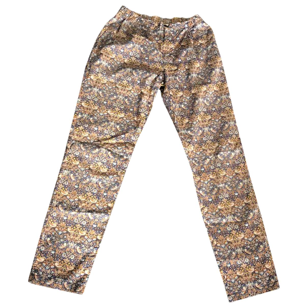My Pant's \N Multicolour Cotton Trousers for Women 38 FR