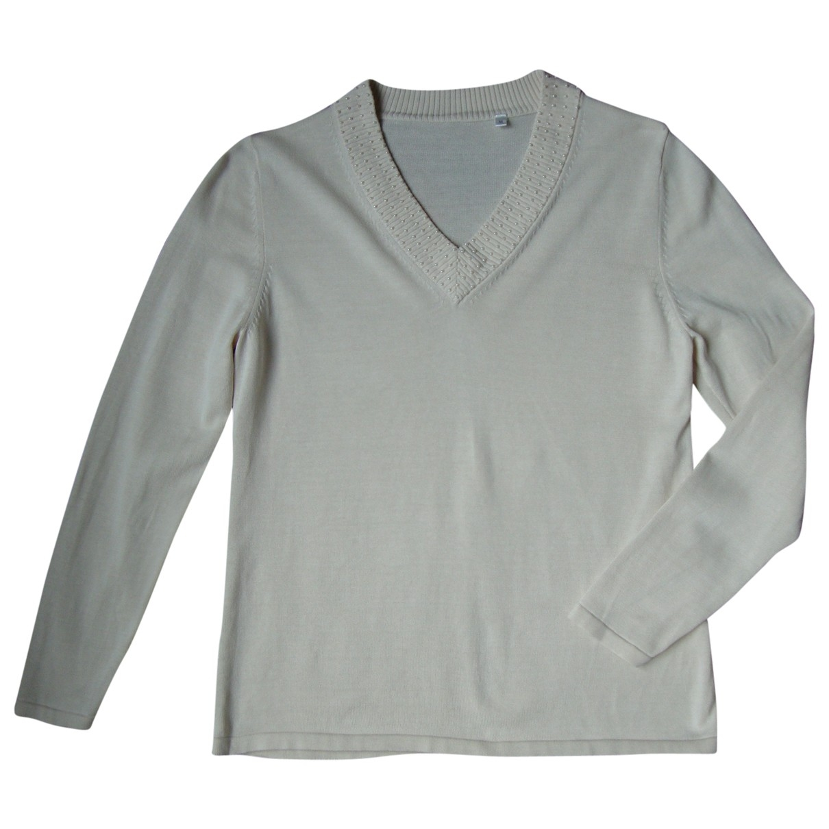 Non Signe / Unsigned \N Pullover in  Beige Seide