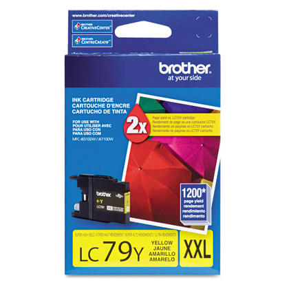 Brother LC79Y Original Yellow Ink Cartridge Extra High Yield