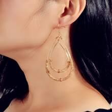 Metal Waterdrop Drop Earrings