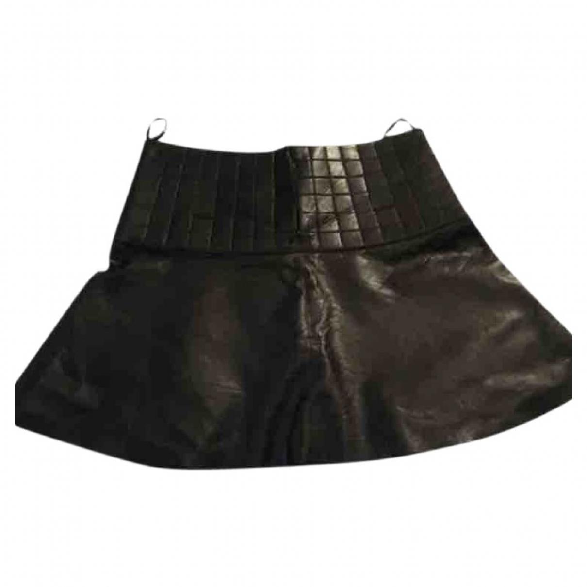 Mini falda de Cuero Chanel