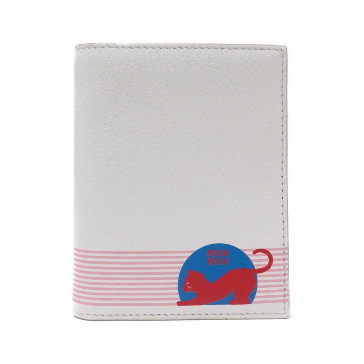 Miu Miu - Portefeuille   pour femme en cuir - multicolore