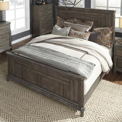 Artisan Prairie 823-BR-QPB Queen Size Panel Bed with Headboard and footboard in