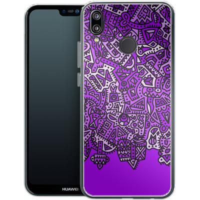 Huawei P20 Lite Silikon Handyhuelle - Violet Black von Mattartiste