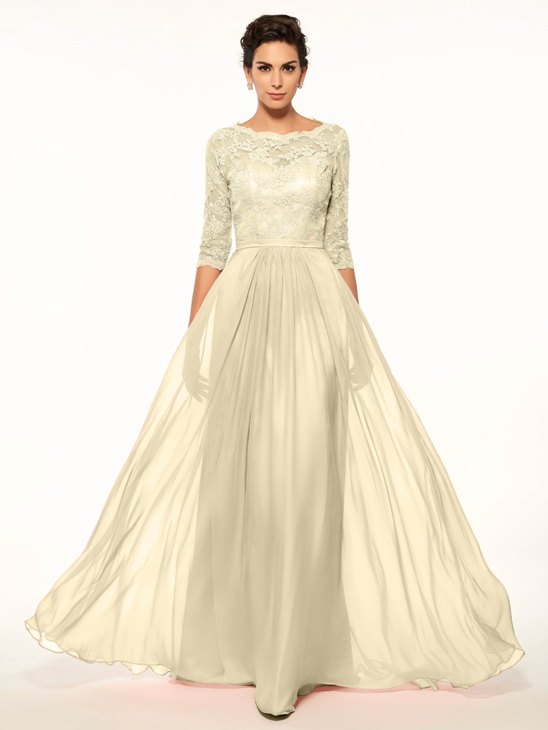 Ericdress Lace Half Sleeves Mother Of The Bride Dress