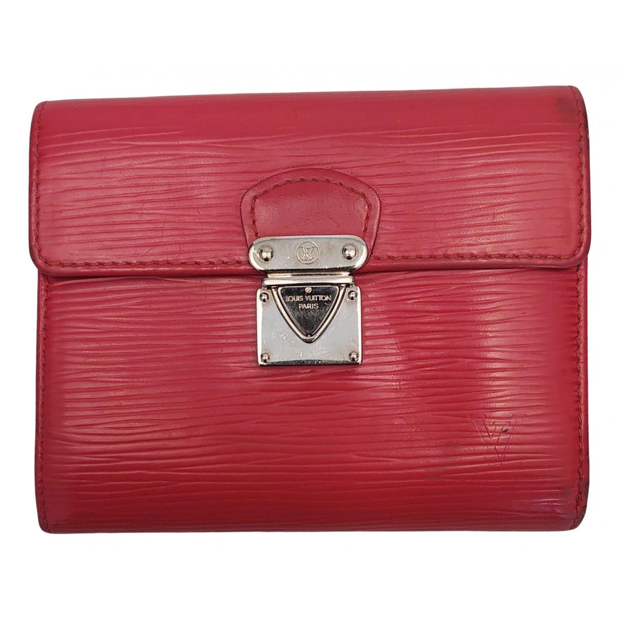 Louis Vuitton Koala Portemonnaie in  Rot Leder