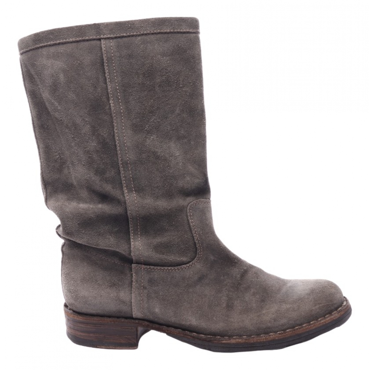 Fiorentini+baker \N Grey Leather Boots for Women 37 EU
