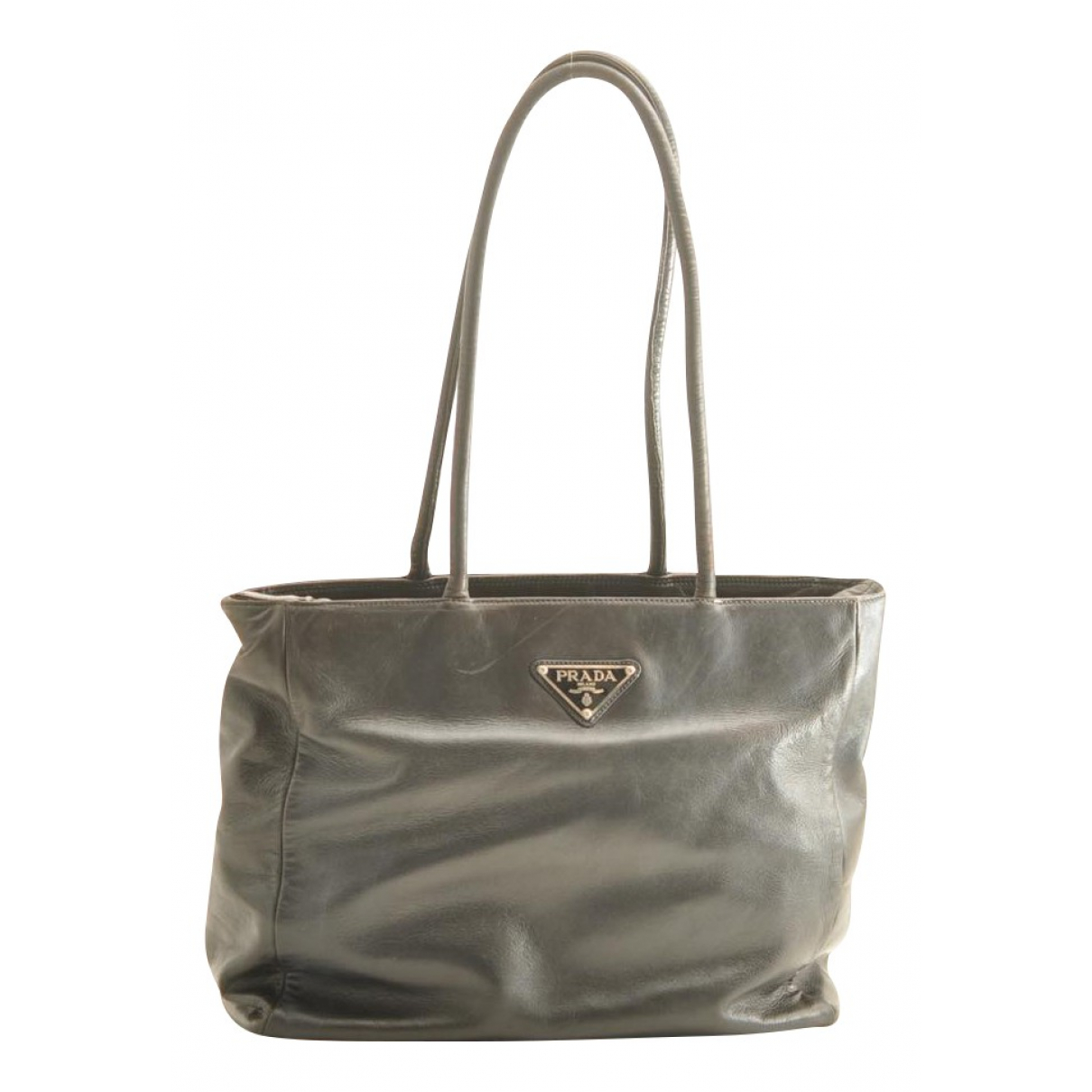 Prada N Grey Leather handbag for Women N