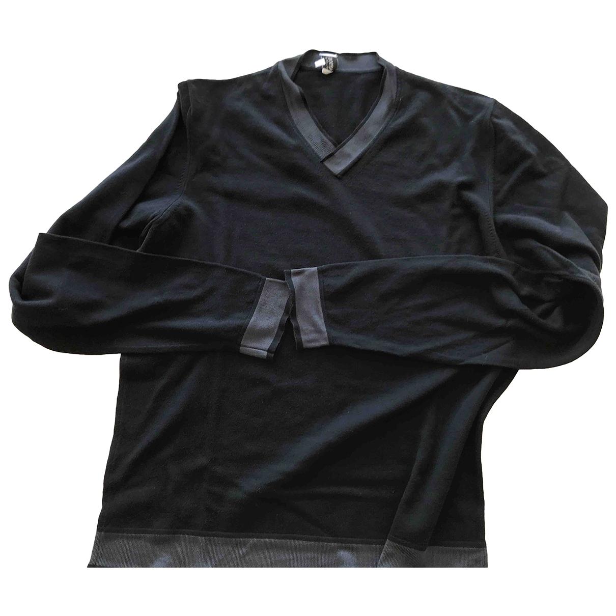 Armani Collezioni \N Pullover.Westen.Sweatshirts  in  Blau Baumwolle