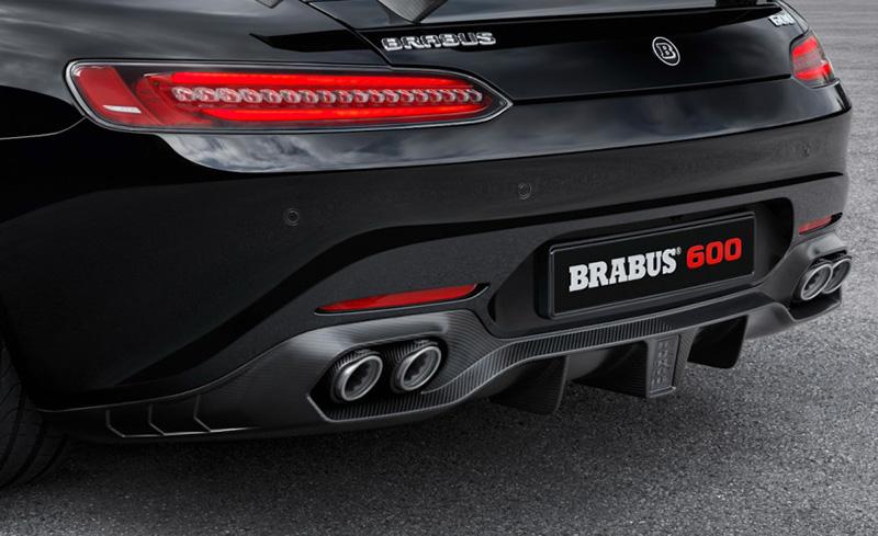 Brabus 190-463-00 Gloss Carbon Fiber Rear Diffuser Mercedes-Benz GT | GT S 2015-2021