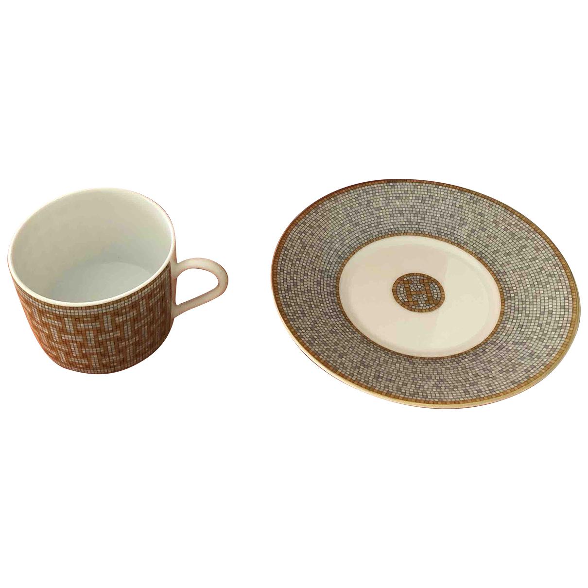 Hermes Mosaique au 24 Tischkultur in  Gold Porzellan