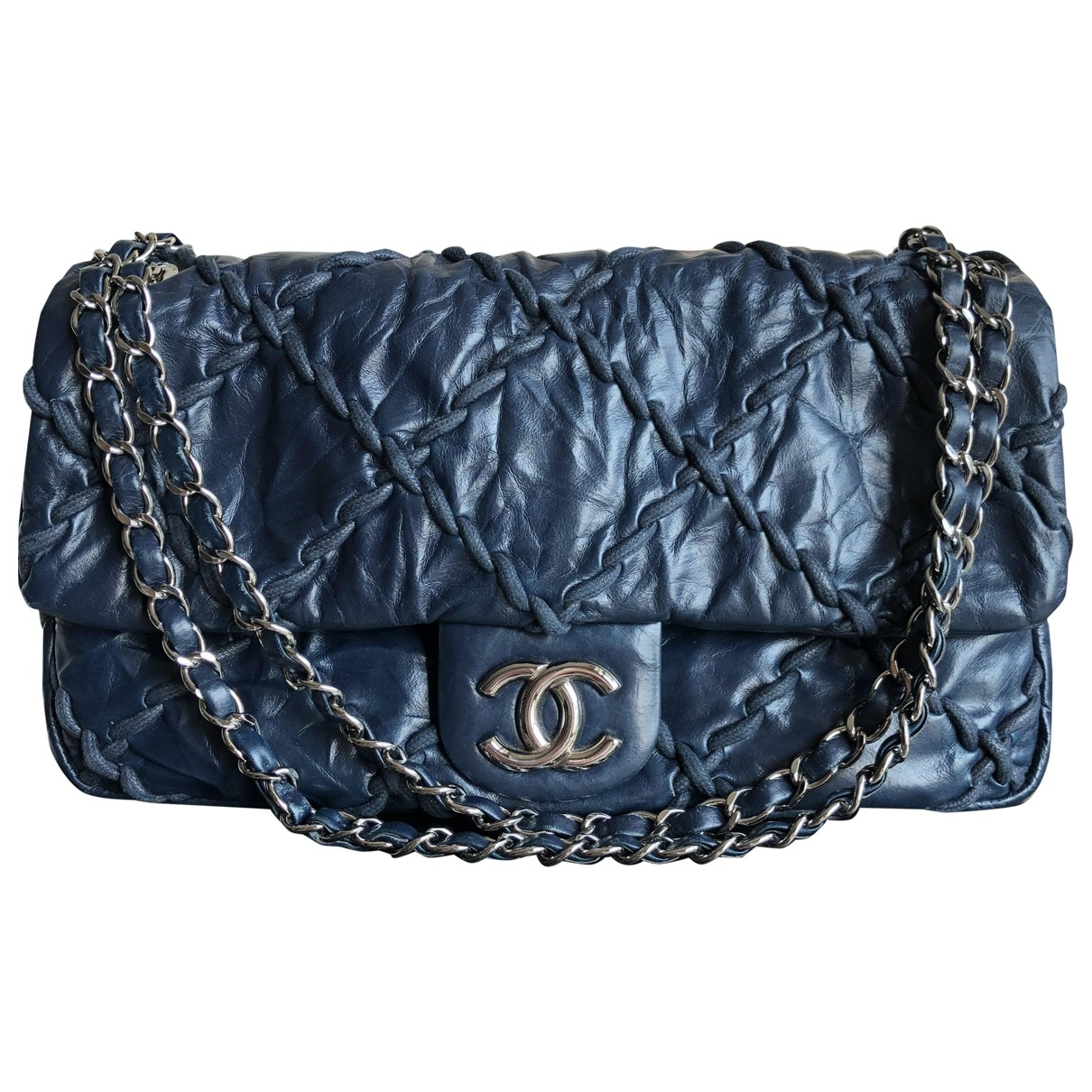 Chanel Timeless/Classique Blue Leather handbag for Women \N