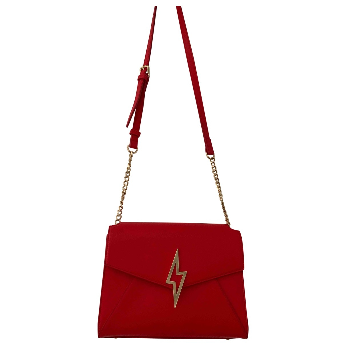 Non Signé / Unsigned \N Red Cloth handbag for Women \N