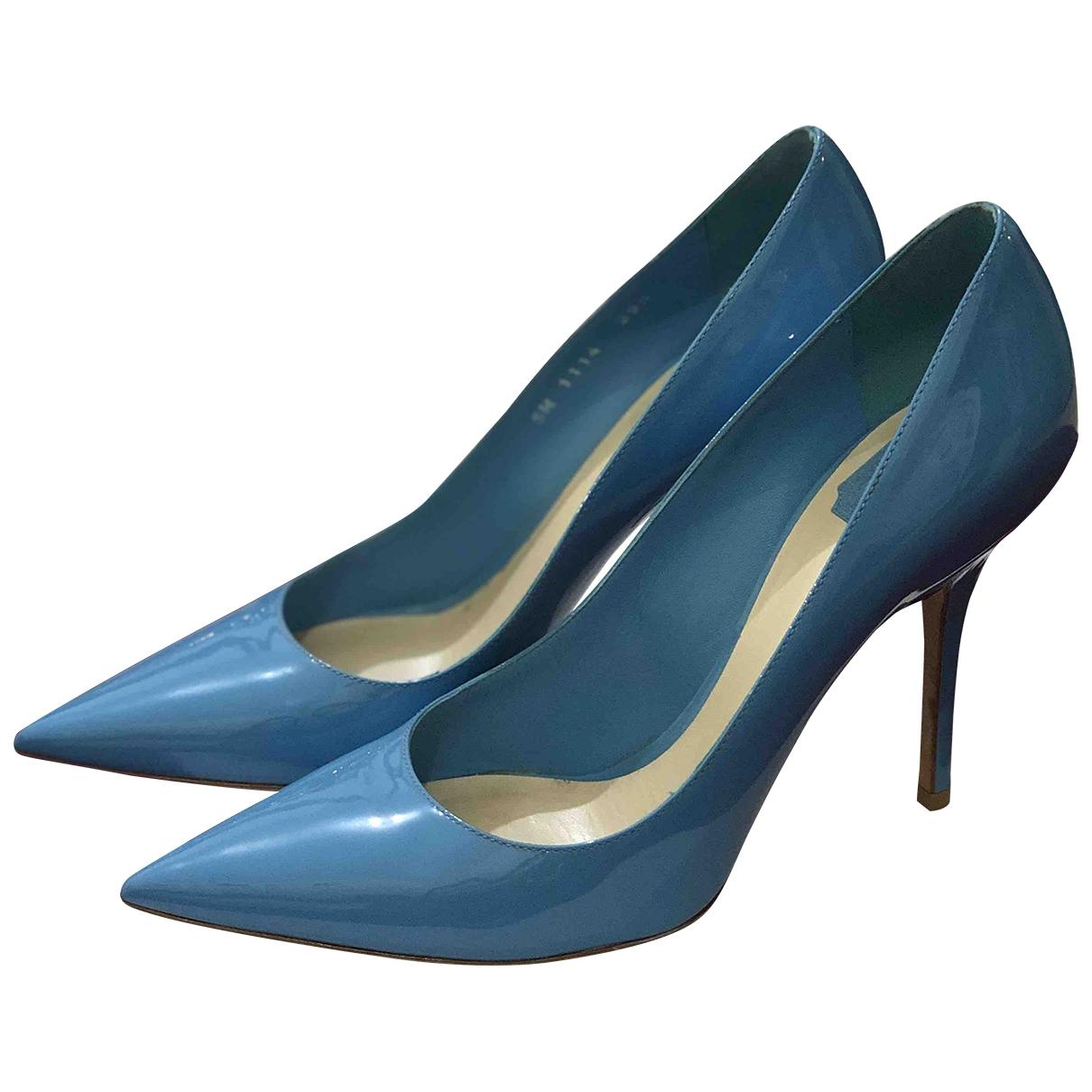 Dior - Escarpins   pour femme en cuir verni - bleu