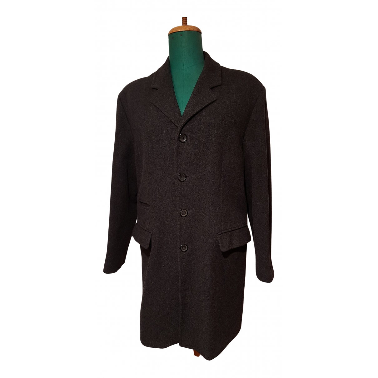 - Manteau   pour homme en laine - noir