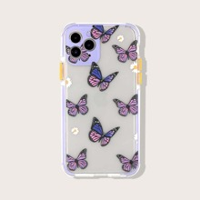Flower & Butterfly Print iPhone Case