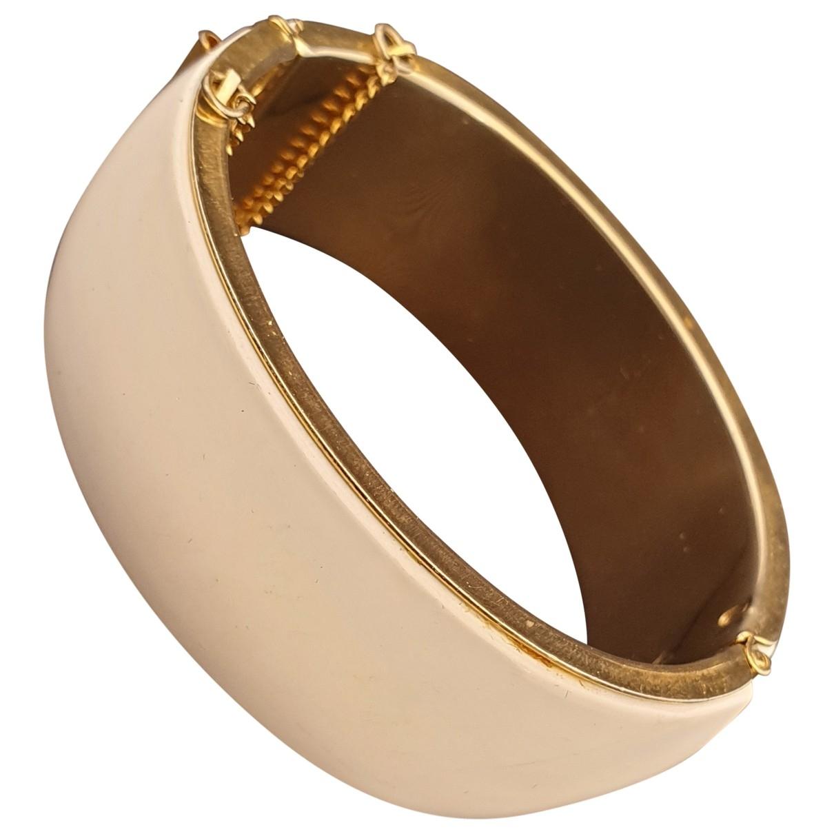 - Bracelet Manchette pour femme en metal - blanc