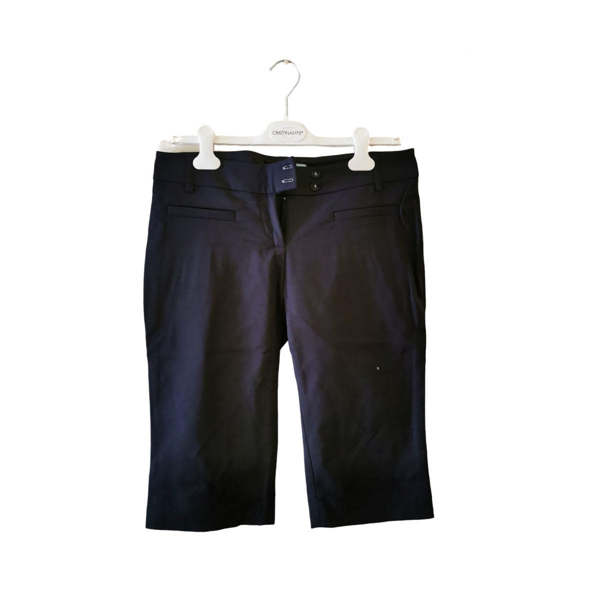 Guess \N Blue Cotton Trousers for Women 44 IT