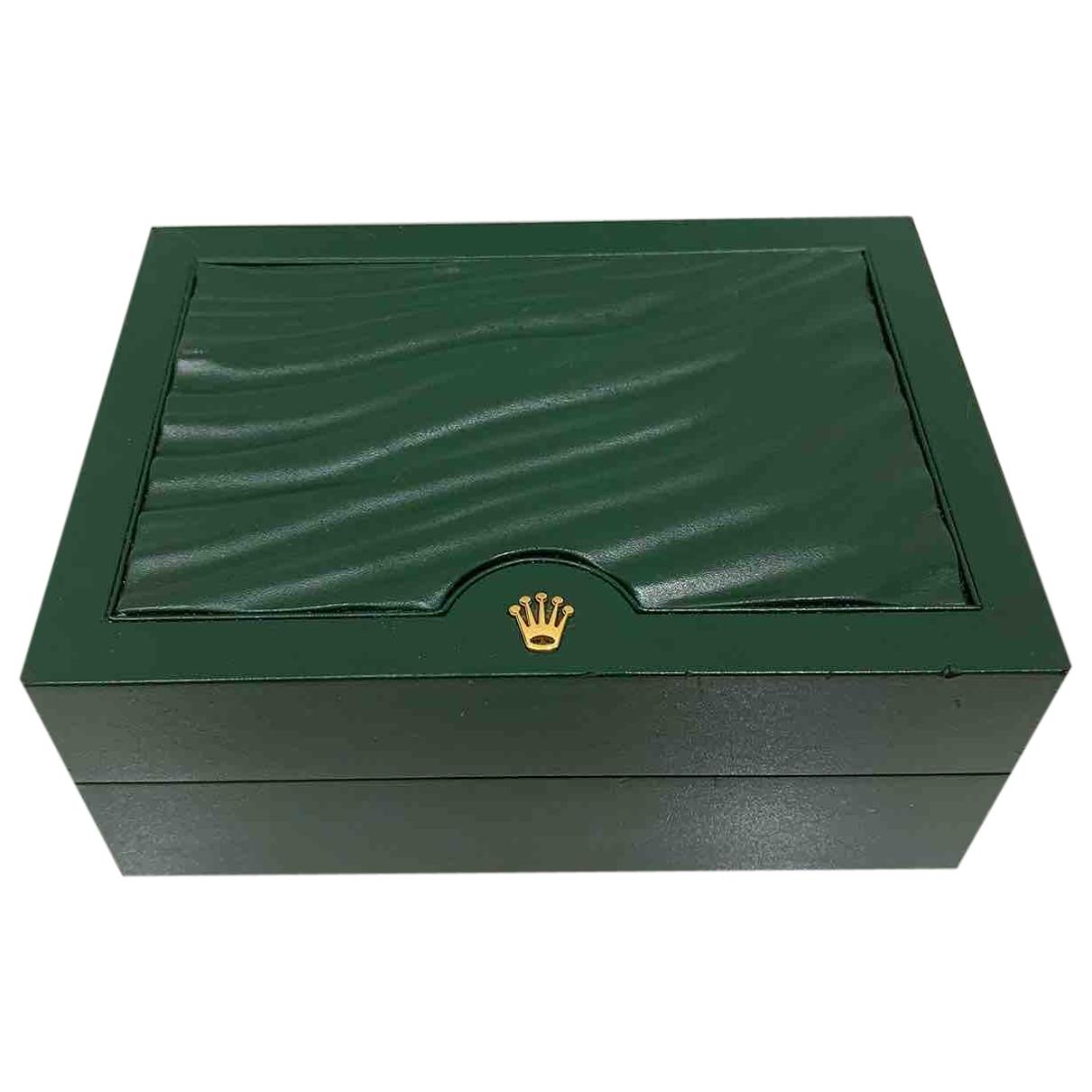Rolex - Objets & Deco   pour lifestyle en cuir - vert