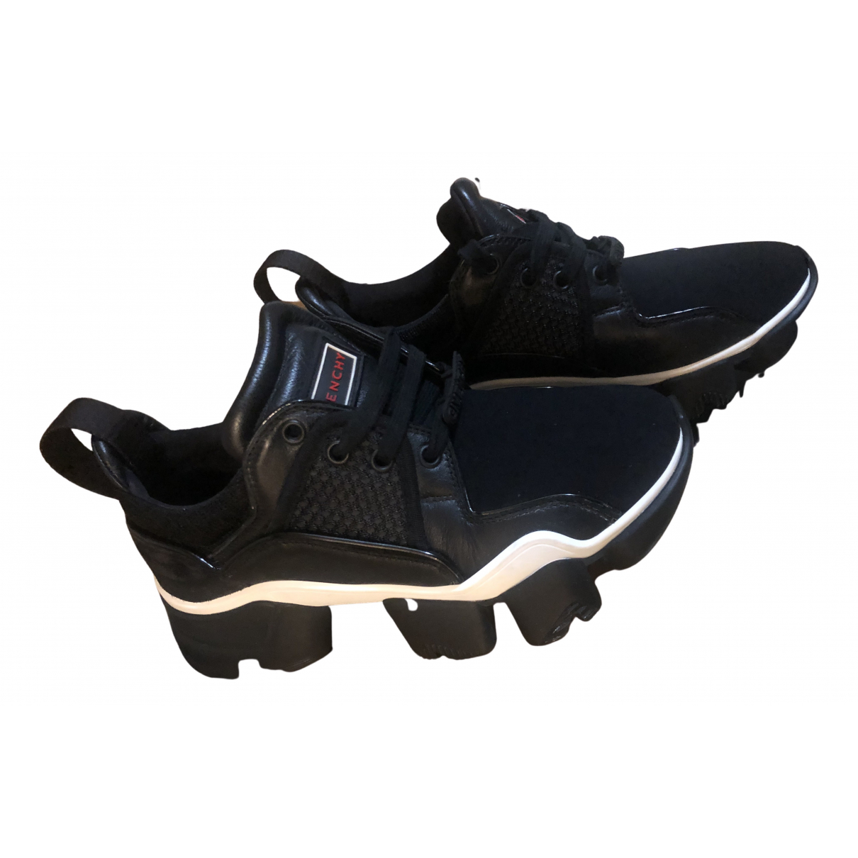 Givenchy Jaw Black Leather Trainers for Women 37 EU