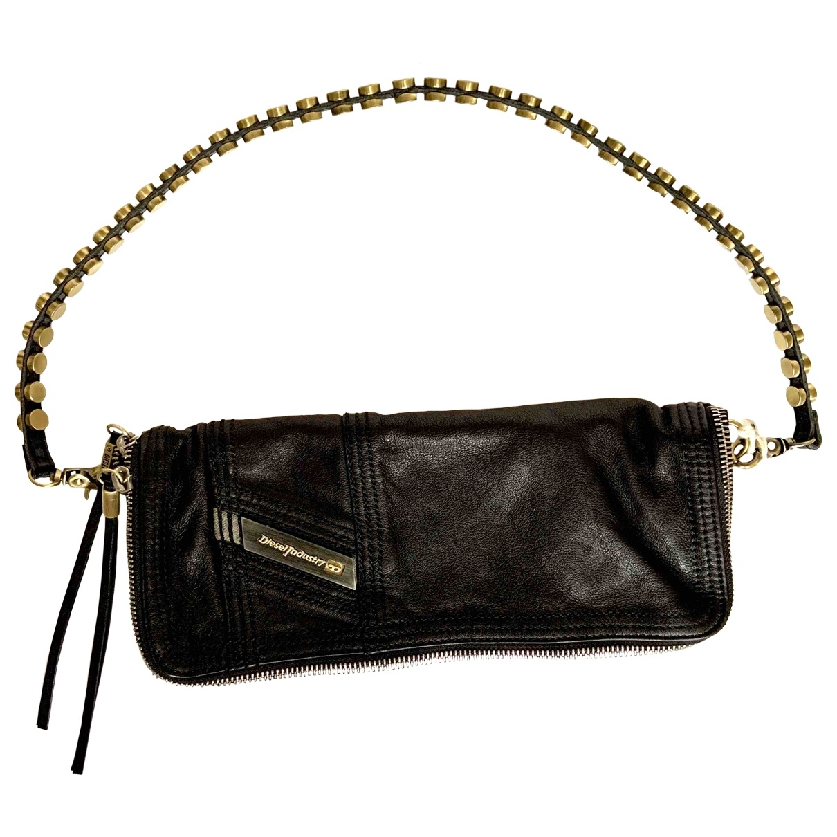 Diesel \N Black Leather Clutch bag for Women \N