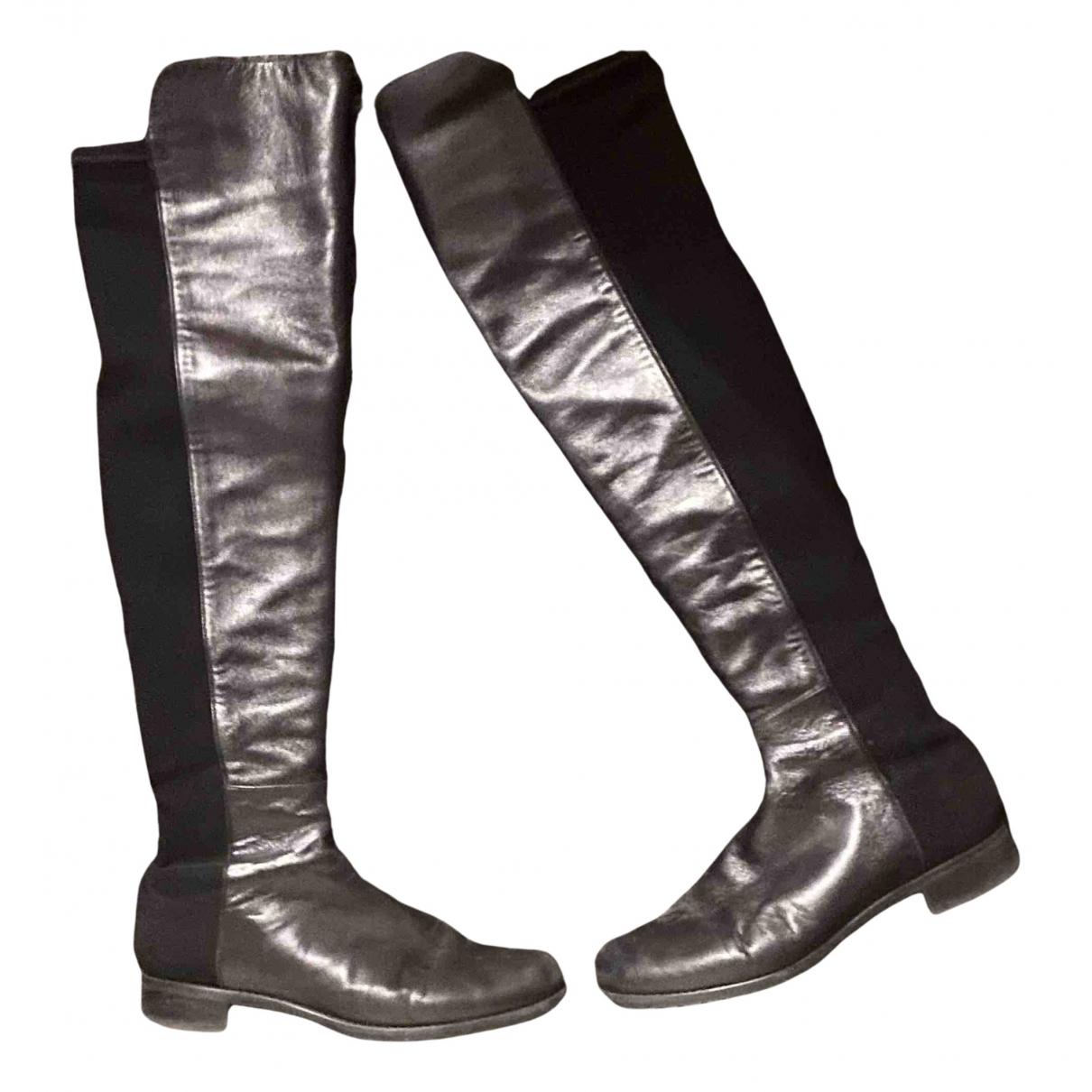 Stuart Weitzman - Bottes   pour femme en cuir - noir