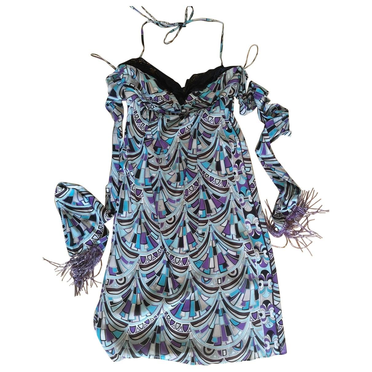 Emilio Pucci \N Kleid in  Blau Seide