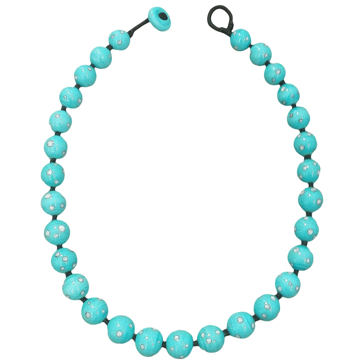Non Signé / Unsigned \N Turquoise Crystal necklace for Women \N